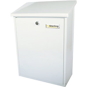 Sterling MB04 Grand Post Box - White