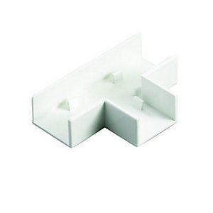 Wickes Mini Trunking Flat Tee - White 25 x 16mm