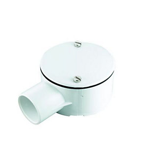 Wickes 1 Way Terminal Junction Box - White 25mm