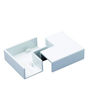 Wickes Mini Trunking Flat Angle - White 38 x 25mm Pack of 2