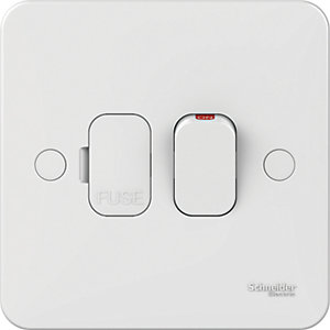 Image of Lisse 13A Double Pole Switched Fused Connection Unit - White