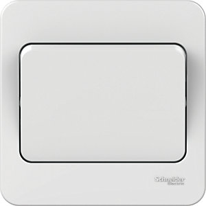 Image of Lisse 10AX 1 Gang 2 Way Switch - White