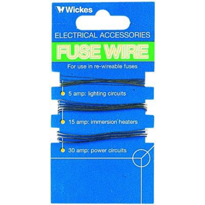 wickes fuse wire pack of 3 wickes co uk fuse wire material at Fuse Wire