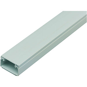 Wickes Self-Adhesive Mini Trunking - White 16 x 25mm x 2m