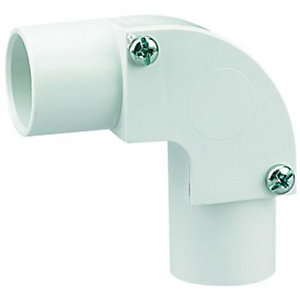 Wickes Trunking Inspection Elbow - White 20mm