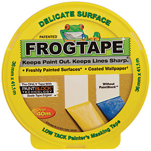 Image of FrogTape Delicate Surface Yellow Masking Tape - 36mm x 41m