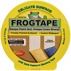 Image of FrogTape Delicate Surface Yellow Masking Tape - 24mm x 41m