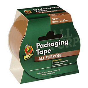 Image of Duck Tape Packaging Tape - Brown 50mm x 25m