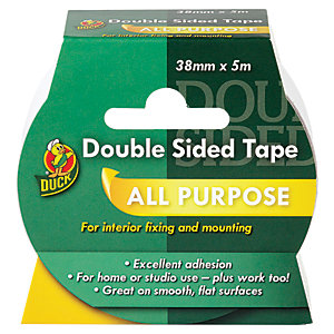 Image of Duck Tape Double Sided Tape White 38mm x 5m