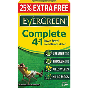 Image of Evergreen Complete 4 in 1 Lawn Care Carton 100m2 - 3.5kg