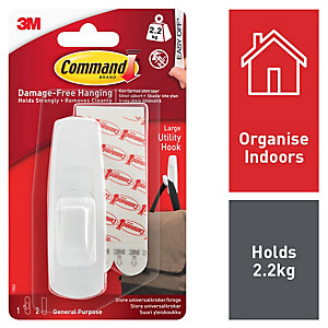 Command Large Utility Hook - White