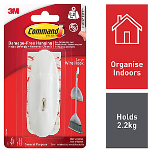 Command Large Wire Hook - White