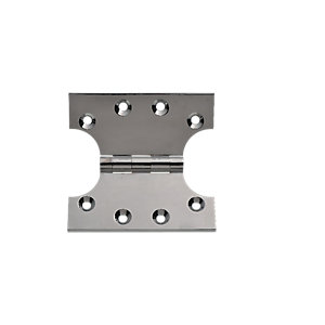 Wickes Parliament Hinge - Polished Chrome 102mm Pack of 2