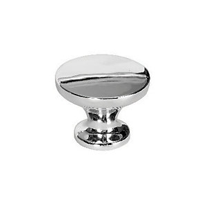 Wickes Victorian Door Knob - Polished Chrome 38mm Pack of 6