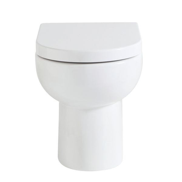 Wickes Phoenix Ceramic Back To Wall Toilet Pan with Soft Close Toilet Seat
