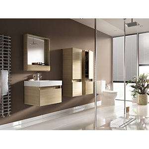Wickes Mondavio Oak Wall Hung Vanity Unit - 600 mm