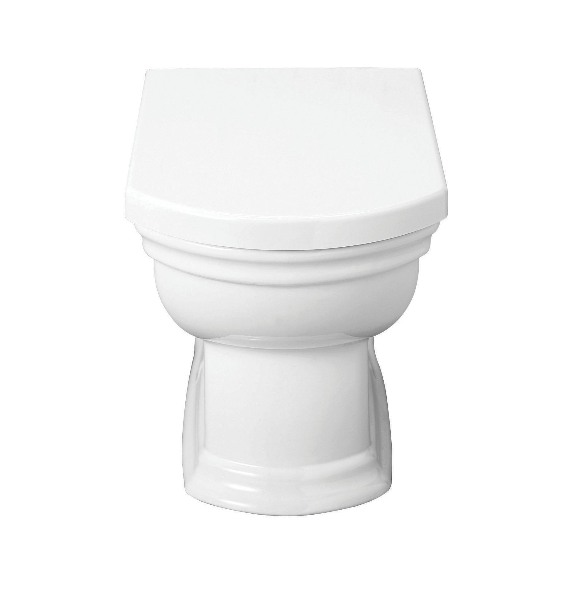 Wickes Belize Ceramic Back To Wall Pan With Toilet Seat by Wickes