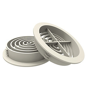 Image of Circular Soffit Vent White