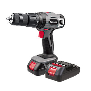 Wickes 18V Li-ion Cordless Combi Drill with 2 Batteries