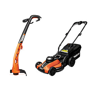 Image of Worx Lawnmower and Trimmer Set