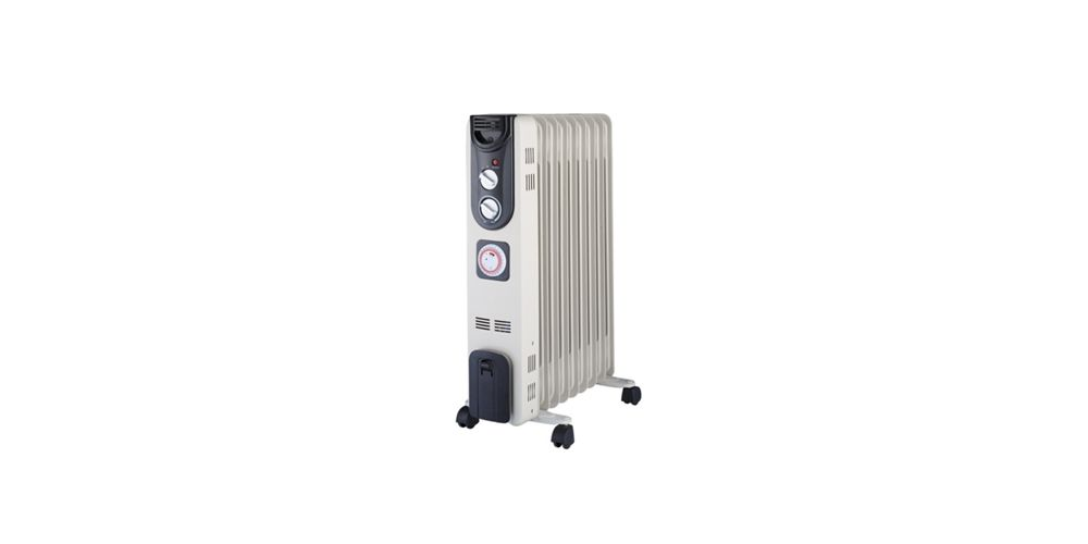 Wickes Electric Oil Filled Thermostatic Radiator - 2kW