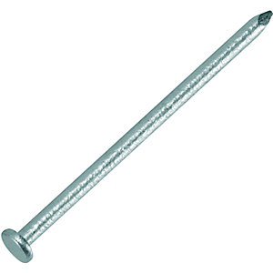 Wickes 75mm Galvanised Round Wire Nails - 400g