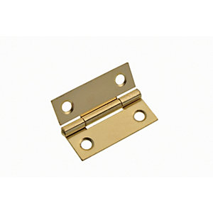Wickes Easy Hang Hinge - Brass 51mm Pack of 2