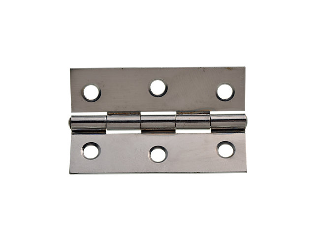 Wickes Butt Hinge - Chrome/Steel 76mm Pack Of 2