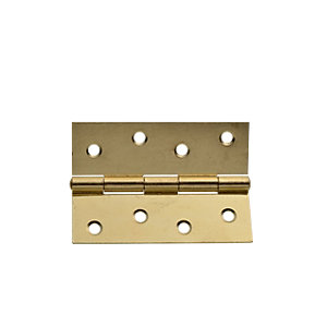Wickes Butt Hinge - Brass 102mm Pack of 2
