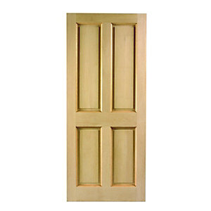 Wickes London External Oak Door 4 Panel 2032x813mm
