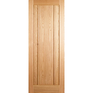 Wickes York Oak 3 Panel Internal Fire Door - 1981mm x 762mm