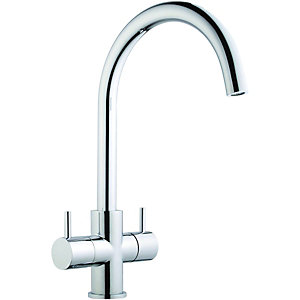 Wickes Kumai Monobloc Kitchen Mixer Sink Tap - Chrome