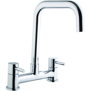 Mixer Tap For Kitchen Sink Wickes seattle bridge kitchen sink mixer tap chrome wickes workwithnaturefo
