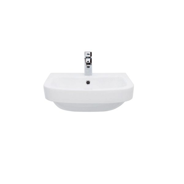 Wickes Phoenix 1 Tap Hole Semi Recessed Bathroom Basin - 520mm