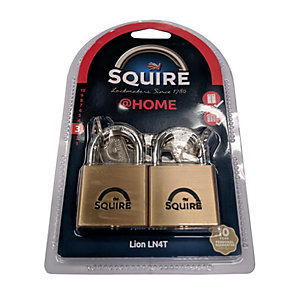 Squire LN4T Lion Twin Keyed Alike Padlock - Brass 40mm
