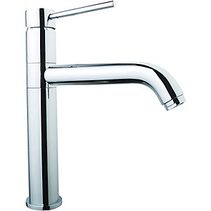 Wickes Lapilli Single Lever Kitchen Mixer Sink Tap - Chrome