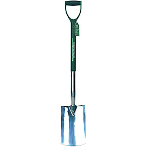 Wickes Garden Digging Spade Stainless Steel - 1000mm