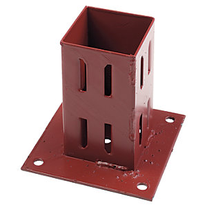 Image of Wickes Erecta Plate Support for Fence Posts - 75 x 75mm