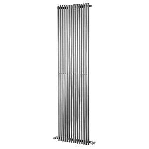 Wickes Stratus Vertical Designer Radiator - Chrome 1800 x 500 mm