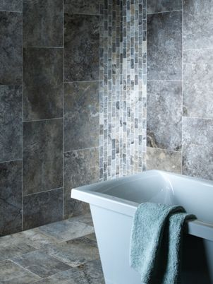 Wickes Silver Grey Honed Filled Travertine Wall Floor Tile 610 X