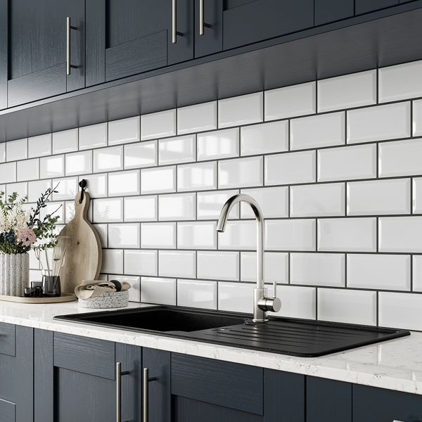 Metro Ceramic Wall Tiles - five colours available