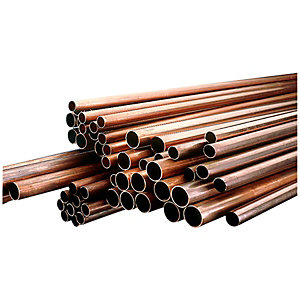 Image of Wickes Copper Pipe 22mm x 3m Pack 10