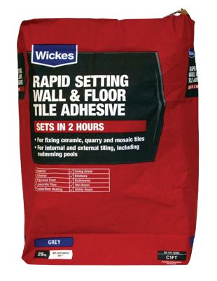 Wickes Rapid Setting Tile Adhesive Kg Wickescouk - Fast drying tile adhesive