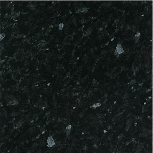 Wickes Bathroom Worktop - Black Slate Gloss 600mm