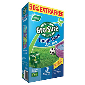 Gro-sure Tough Grass Lawn Seed 15m2 - 450g