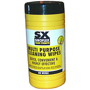 Image of Siroflex Multi Purpose Cleaning Wipes Tub of 80