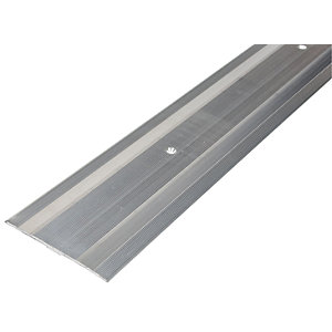 Wickes Extra Wide Carpet Cover Trim Silver Effect - 900mm