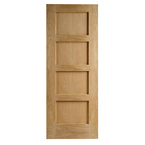 Wickes Marlow Oak 4 Panel Internal Fire Door - 1981mm x 686mm