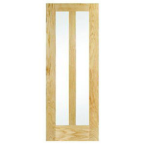 Wickes Hitchin Internal Glazed 2 Panel Oak Veneer Door - 1981 x 686mm