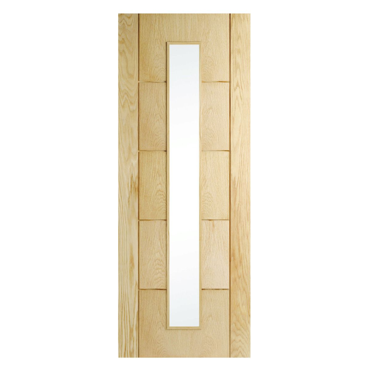 Wickes Thame Glazed Oak 5 Panel Internal Door   1981mm X 686mm by Wickes